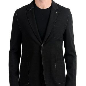 "Hugo Boss ""Agalton"" Wool Black Blazer Sport Coat"